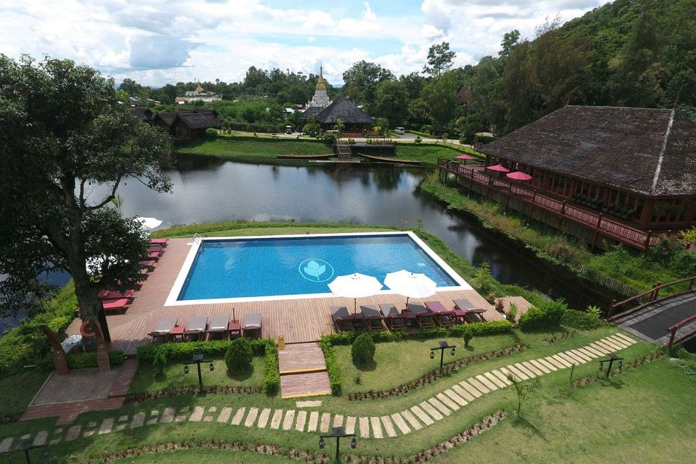 Pool, Pristine Lotus Resorts, Inle See, Myanmar Reise